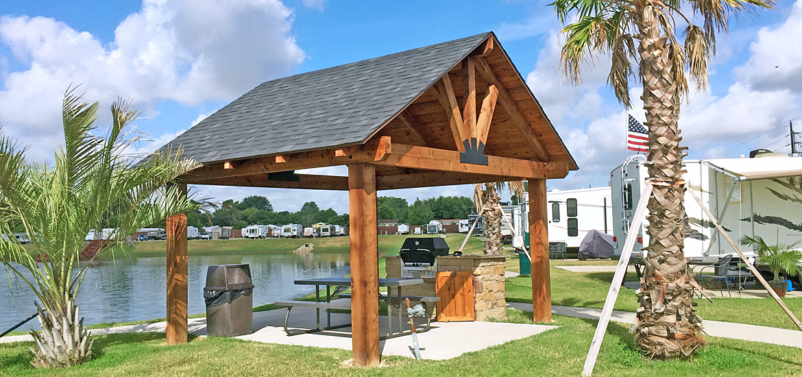 Lakeside Gazebo at Katy Lake RV Resort