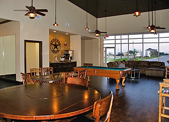 Clubhouse Game Room at Katy Lake RV Resort