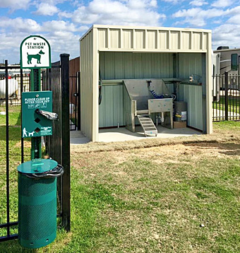 Dog Wash Station at Katy Lake RV Resort