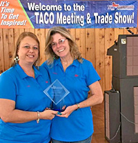 Accomodation Of The Year Award For Katy Lake RV Resort Presented To Manager Joy Stogsdill